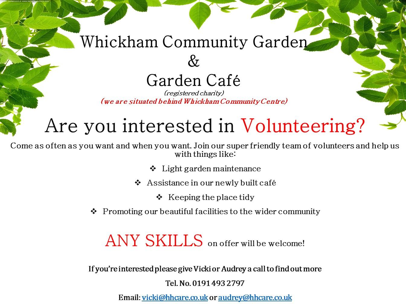 Volunteer at Whickham Garden